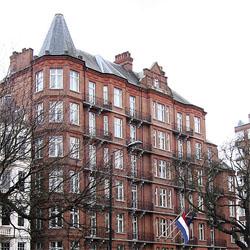 Ambassadegebouw Londen in de verkoop
