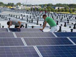 Zonnepanelen op mega-dak dc Vomar