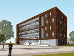 Hoogste punt nieuwbouwflat in Zwolle