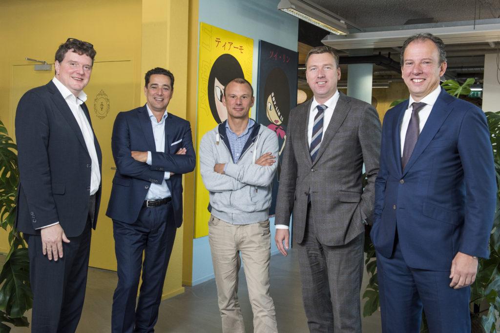 Johannes van Bentum, Marcel de Boer, Erik Steinmaier, Maarten van Duijn en Paul Oremus