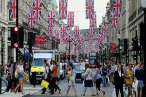 Forse daling Britse winkelverkopen